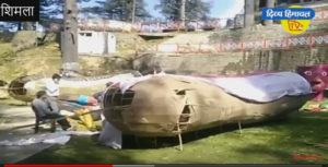 शिमला के जाखू मंदिर में 45 फुट का रावण, मुख्यमंत्री जयराम ठाकुर रिमोट से करेंगे दहन।