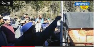 शिमला में कांग्रेस ने मनाया स्थापना दिवस।