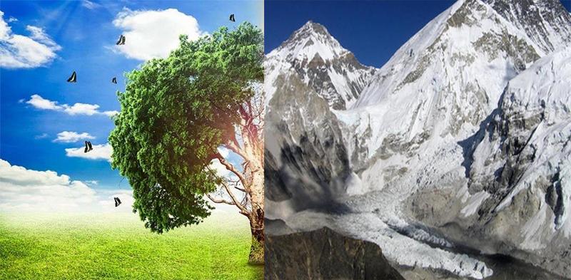 जलवायु परिवर्तन और हिमनद के खतरे