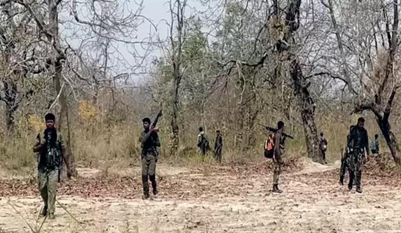 छत्तीसगढ़ के सुकमा जिले में पुलिस और नक्सलियों की मुठभेंड़ में दो नक्सली ढेर