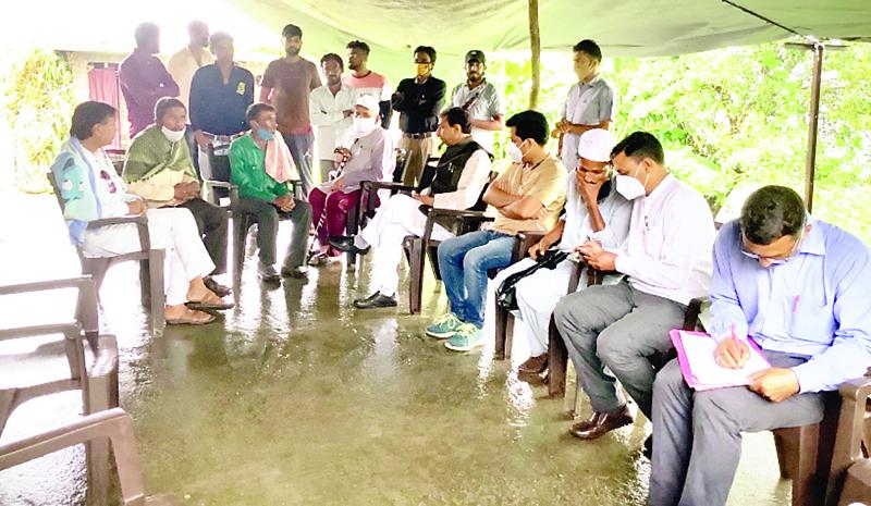 मंत्री राजेंद्र गर्ग ने जाना पीडि़तों का दर्द